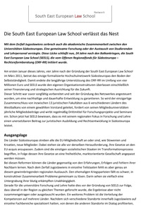 Die South East European Law School verlaesst das Nest 1
