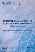 Networking of Lawyers in Advanced Teaching and Research of EU Law Lisbon2013