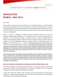 SEELS Quarterly Newsletter March May 2016 1